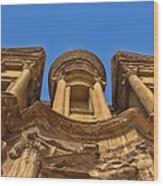 The Monastery In Petra Wood Print