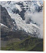 The Monk - Swiss Bernese Alps Wood Print