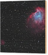 The Monkey Head Nebula And Sh2-247 Wood Print