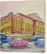 The Montreal Forum Wood Print