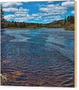 The Moose River At The Green Bridge Wood Print