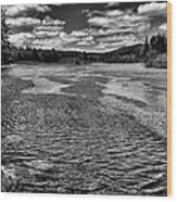 The Moose River At The Green Bridge II Wood Print