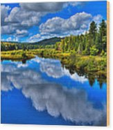 The Moose River From The Green Bridge Wood Print