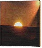 The Morning Light Show Wood Print