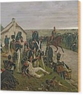 The Morning Of The Battle Of Waterloo Wood Print