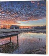 The Morning Sky Wood Print