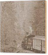 The Morning Train Wood Print