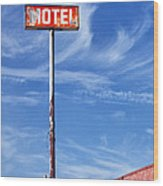 The Motel Palm Springs Desert Hot Springs Wood Print