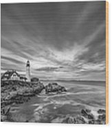 The Motion Of The Lighthouse Wood Print