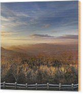 The Mountains Of Brasstown Bald Wood Print