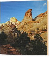 The Mountains Of Capital Reef   Wood Print