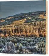 The Mountainsides Wood Print