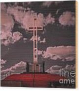 The Mt. Soledad Cross - Part 1  Wood Print