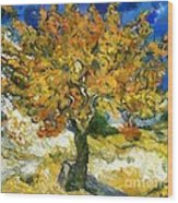 The Mulberry Tree After Van Gogh Wood Print