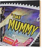 The Mummy Postage Stamp Print Wood Print