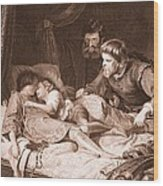 The Murder Of The Princes In The Tower Wood Print