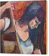 The Musician Wood Print