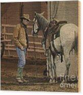 The Mustang Whisperer Wood Print