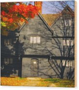 The Mysterious Witch House Of Salem Wood Print