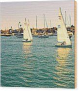 The Mystery Of Sailing Wood Print