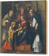 The Mystic Marriage Of St Catherine Wood Print