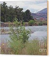The Naches River Wood Print