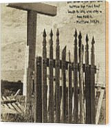 The Narrow Gate Wood Print