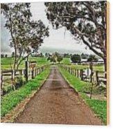 The Narrow Road Wood Print