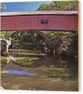 The Narrows Covered Bridge 1 Wood Print