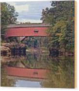 The Narrows Covered Bridge 4 Wood Print