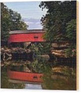 The Narrows Covered Bridge 5 Wood Print by Marty Koch