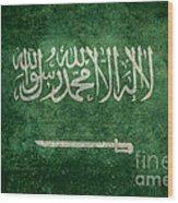 The National Flag Of  Kingdom Of Saudi Arabia  Vintage Version Wood Print