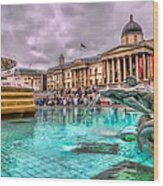 The National Gallery In Trafalgar Square Wood Print