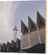 The National Mosque Kuala Lumpur Wood Print