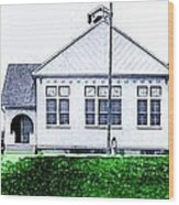 The National Museum Of Architecture In Sloansville N Y In 1905 Wood Print