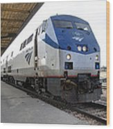 The National Railroad Passenger Corp Amtrak Wood Print