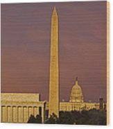 The Nations Capitol Wood Print