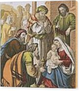The Nativity Wood Print by English School
