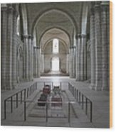 The Nave With Tombs Fontevraud Abbey Wood Print