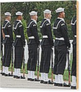 The Navy Ceremonial Guard Wood Print
