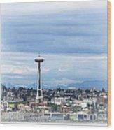 The Needle In Seattle Wa Wood Print