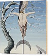 The Neolithic Totem Oil On Canvas Wood Print