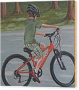 The New Bike Wood Print