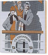 The New Holiday, Vintage Travel Poster Wood Print