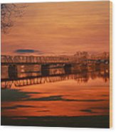 The New Hope Bridge Wood Print