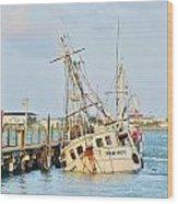 The New Hope Sunken Ship - Ocean City Maryland Wood Print