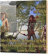 Princess Of The Sacred Lake Wood Print