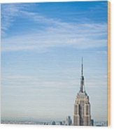 The New York City Empire State Building Wood Print