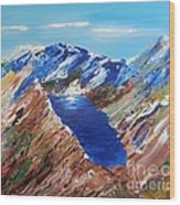The New Zealand Alps Wood Print