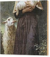 The Newborn Lamb Wood Print